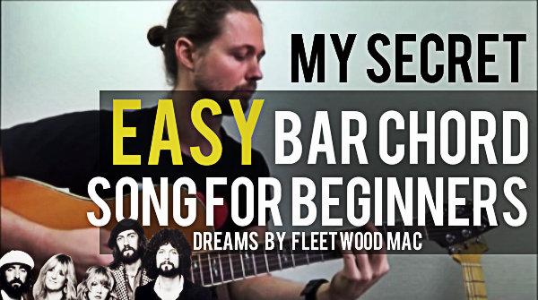 My Secret Easy Bar Chord Song Dreams By Fleetwood Mac Mccormick